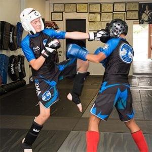 junior mma fight demonstration