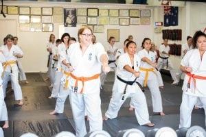 rma kyokushin lady training